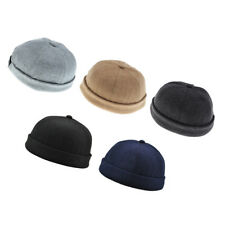 5pcs Casual Adjust Docker Hat Sailor Cap Mechanic Hat SkullCap Beanie Hat