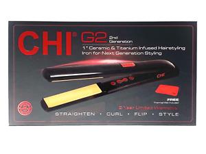 """CHI G2 1"""" Ceramic Titanium Flat Iron - New In Box"""