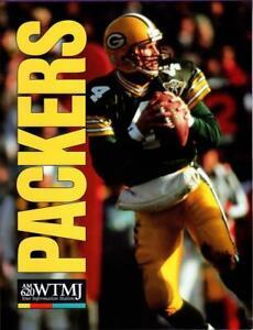 "RARE Brett Favre Green Bay Packers WTMJ AM620 8-1/2"" X 11"" Promotional Ad Sheet"