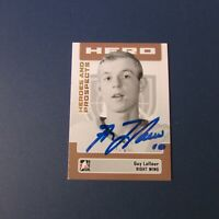 GUY LAFLEUR   2006  ITG Heroes Prospects  # 13  AUTO SIGNED  Montreal Canadiens