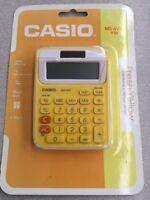 Casio Electronic Calculator MS-6VC-YW 8-Digit LARGE LCD TAX Twin FRESH YELLOW