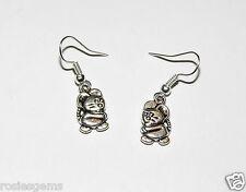 Pendientes de plata de ratón; nueva marca Moda Joyería Pendientes