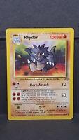 Rhydon 45 Jungle Set Uncommon Pokemon Card Near Mint