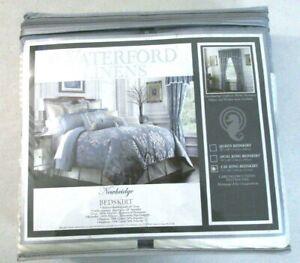Waterford Linens Newbridge Cal King Bedskirt only Bed skirt 72 x 84 []