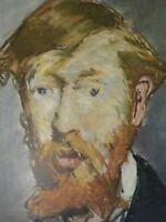 Detail from George Moore Print Vintage 24824 Edouard Manet