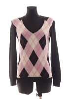 Tommy Hilfiger Women's Black long sleeved V-neck Pima Cotton Sweater Size Small