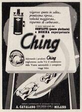 Z3753 Bobina e Contatti CHING - Pubblicità d'epoca - 1940 vintage advertising