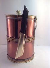 Vintage Georges Briard large copper and brass tone foil ice bucket made in Usa