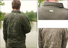 Nash Long Sleeved Polo Shirt  Medium Carp Fishing RRP £30 C2070
