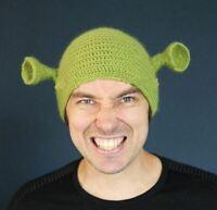 Balaclava Monster Shrek Handmade Wool Winter Knitted Hat for Women and Men Gift