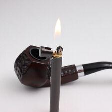 Mini Pipe Portable Lighter Gear Fire Refillable Gas Cigar Cigarette Smoke Gift