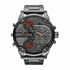 Diesel Original MR DADDY 2.0 Multiple Time Chrono Gunmetal Watch 57mm DZ7315