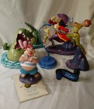 WDCC Disney PETER PAN Figurines LOT of 7 Pieces Tink Smee Captain Hook Crocodile