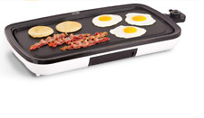 """New Dash Everyday Nonstick Extra Large Electric Griddle, 20"""" x 10.5"""", White"""