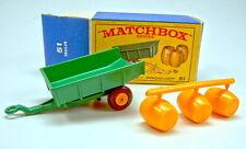 """Matchbox RW 51B Tipping Trailer Fässer am Giesast in """"E1"""" Box"""