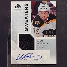 MATT BELESKEY  01/99 Auto  2016-17 SP GU Inked Sweaters #ISMB Boston Bruins 1of1