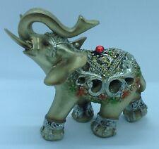 ELEPHANT TRUNK STATUE  FENG SHUI FIGURINE DECOR  NICE GIFT A 95529