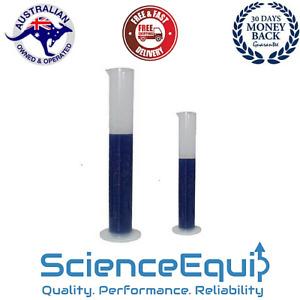 Measuring Cylinder Graduated with Spout Autoclavable Plastic 4 Sizes 1/6/12 pc