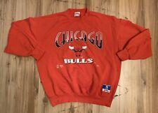 Vintage Nutmeg Chicago Bulls Crewneck Sweatshirt Mens XL Red