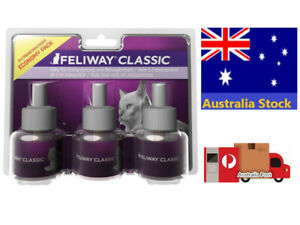 Feliway Plug-In Diffuser Refill Economic Package, 3-Pack (Package May Different)