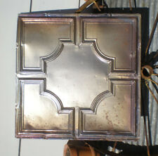 Antique Ceiling Tin Tile Elegant Iridescent Carnival Octagon Frame Canvas Chic