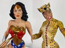 DC Direct  Alex Ross Justice Wonder Woman / Cheetah Action Figure lot loose