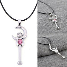Fashion Women Jewelry Crystal Moon Retro Long Pendant Sweater Cosplay Necklace``