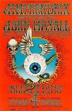 Jimi Hendrix 1968 Fillmore West Concert Poster 21 x 32 ~ $95.95 Nm- 6th Print