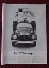 1969 Print Ad Volkswagen Vw Bug Beetle Automobile ~ Not The Loch Ness Monster