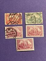 Germany Deutsches Reich 5 Pcs Stamps - 3 Used,1-MNH,1-mint, See Photos