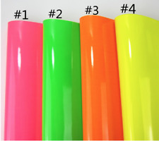 Bright Colored Faux leather sheets Yellow, Green, Orange or Pink