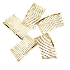 5pcs Gold Metal Hair Comb Slide Side Combs Hair Clip Wedding Decor
