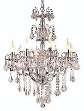 Lampadario Cromato 8 Luci Illuminazione Soffitto Arredamento gocce di cristallo Lampada