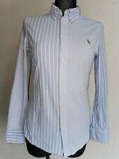 Ralph Lauren knit oxford womens cotton long sleeve striped shirt size M