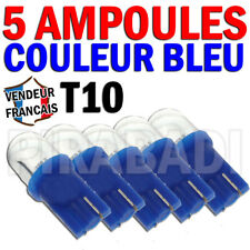 5 AMPOULE LED T10 SMD BLEU W5W HABITACLE PLAFONNIER COFFRE COMPTEUR PARE SOLEIL
