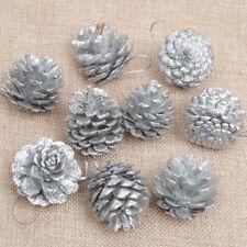36 Christmas Gold//Silver Pine Cones Baubles Xmas Room Decorations Ornament Decor