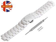 For EMPORIO ARMANI AR1472 Ceramic White Full Strap/Band/Bracelet Watch 20mm