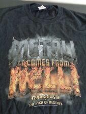 TENACIOUS D IN THE PICK OF DESTINY Metal Comes From Hell PROMO Large T Shirt