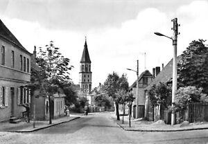 AK, Bad Düben Mulde, Gustav-Adolf-Str mit Kirche, 1965