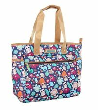 Lily Bloom Travel Tote Bandit Racoon Harvest Luggage Overnight Large Bag ECO NWT
