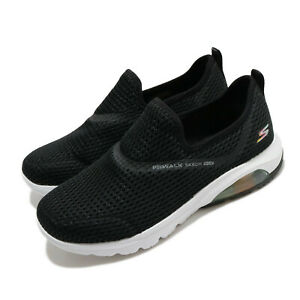 Skechers Go Walk Air-Twirl Black White Women Slip On Loafers Shoes 124073 SIZE 8