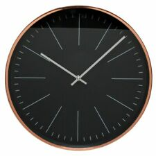 NEW Eve Black and Rose Gold Index Wall Clock, 38cm