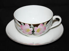 Set Of 4 1930's Noritake Azalea Patt.  Cup & Saucer Sets #19322 Red Stamp