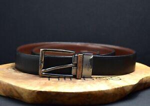 Marks and Spencer M&S Reversible Mens Belt Black Brown Size 34-36