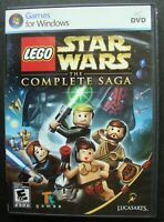 LEGO STAR WARS THE COMPLETE SAGA PC CD ROM VIDEO GAME
