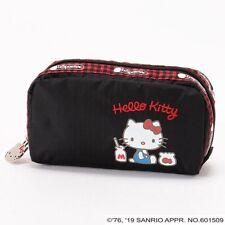 Lesportsac Hello Kitty Sanrio G653 Makeup Rectangular Cosmetic Bag Pencil Pouch