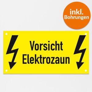 """Warnschild """"Vorsicht Elektrozaun"""" Weidezaun, Hartschaumplatte wetterbeständig..."""