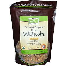 Now Foods Certified Organic Raw Walnuts Unsalted - 12 oz (340g)