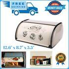 NEW Stainless Steel Bread Box kitchen,Metal Bin,Bread Storage,Vintage Retro !!!