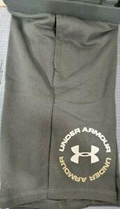 Boys Kids Youth Under Armour Shorts NEW Dark Gray circle logo Size Small